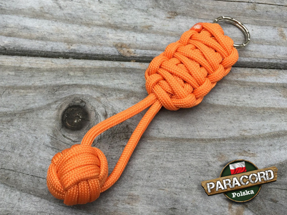 "Brelok survivalowy Monkey's Fist ""Pięść Małpy"", kolor ""Orange Yellow"""