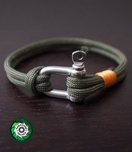 "Bransoleta z Paracordu typ: ""Rope"", kolor: ""Army Green"""
