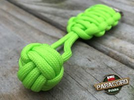 "Brelok survivalowy Monkey's Fist ""Pięść Małpy"", kolor ""Fluor green"""