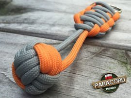 "Brelok survivalowy Monkey's Fist ""Pięść Małpy"", kolor GERBER ""Gun metal - Orange yellow"""