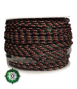 Szpulka linki Paracord P3 Cord. 50 metrów. Kolor: Dark red reflective - mocna poliestrowa linka o średnicy 2,5 mm.