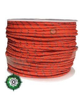 Szpulka linki Paracord P3 Cord. 50 metrów. Kolor: Orange Yellow reflective - mocna poliestrowa linka o średnicy 2,5 mm.