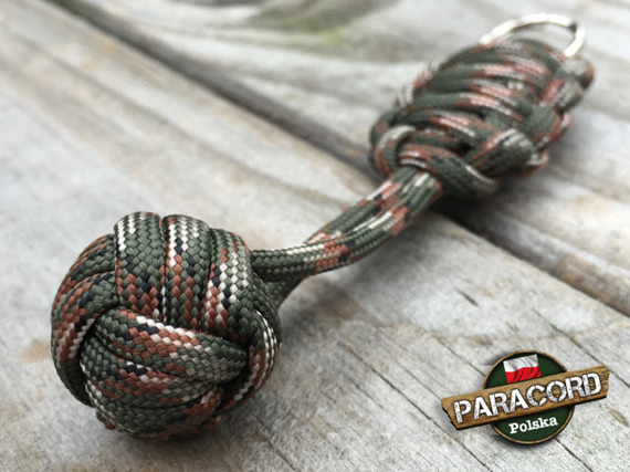 "Brelok survivalowy Monkey's Fist ""Pięść Małpy"", kolor ""Army green camo"""