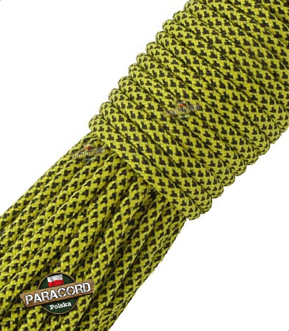 Paracord 550, kolor: Yellow Diamonds - linka spadochronowa z siedmioma rdzeniami