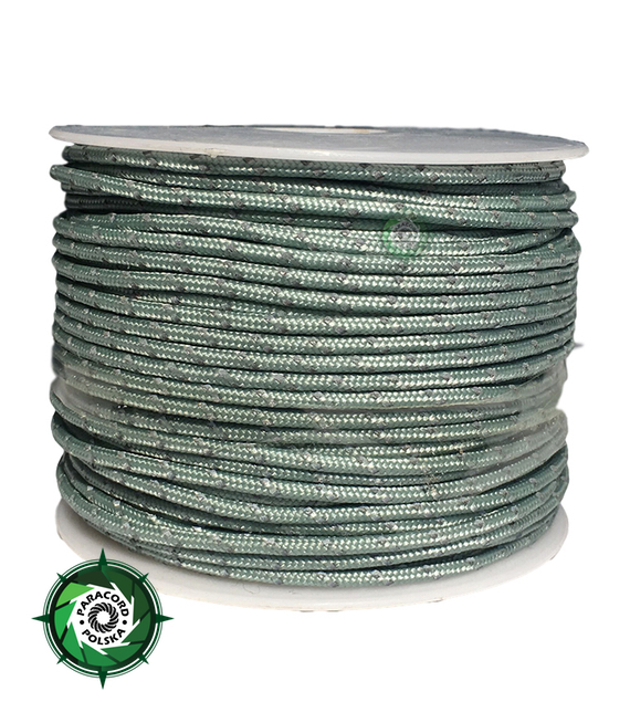 Paracord P3 Cord, kolor: Neutral grey reflective - mocna poliestrowa linka o średnicy 2,5 mm.